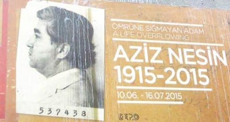 Aziz Nesin sergisi afişi