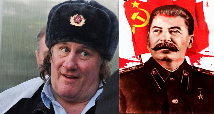 Gerard Depardieu Stalin rolünde