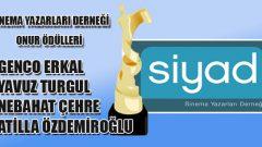 Ustalara SİYAD Onur Ödülleri
