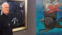 Süleyman Saim Tekcan atları ile Şerefiye Sarnıcı'nda