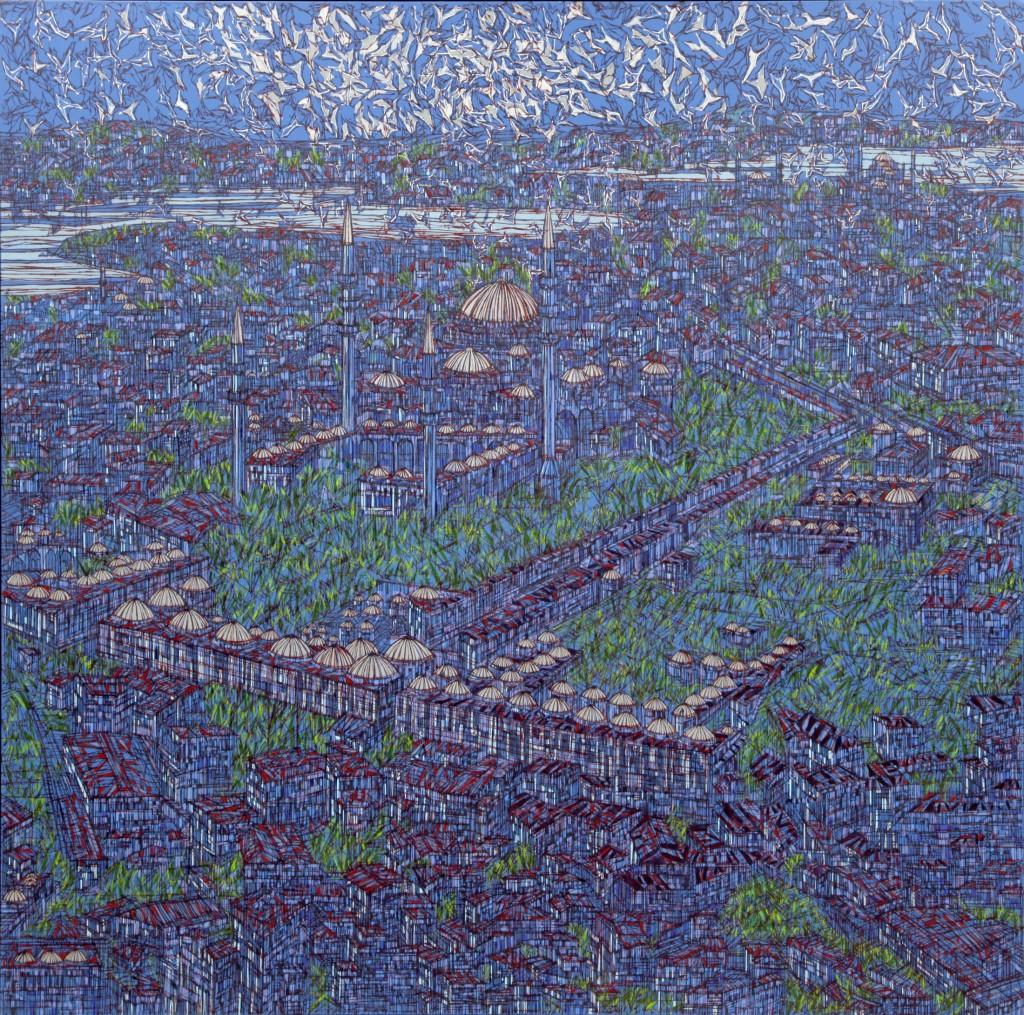 DevrimErbil_S╠ğehri I╠çstanbul1_2013 TUKRSKTek.150X150 cm.