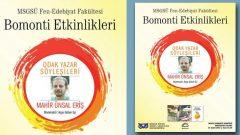 Odak Yazar Söyleşileri Mahir Ünsal Eriş'i ağırlıyor