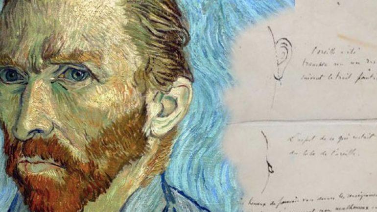 Van Gogh kestiği kulağının resmini çizmiş