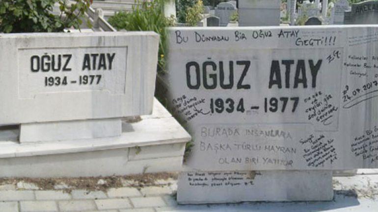 Oğuz Atay'ın mezar taşına yazılanlar tepki topladı