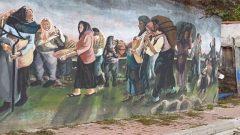 Küre duvarlarında Kurtuluş Savaşı resimleri