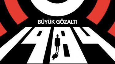 George Orwell'in eseri 1984 Büyük Gözaltı tiyatro sahnesinde