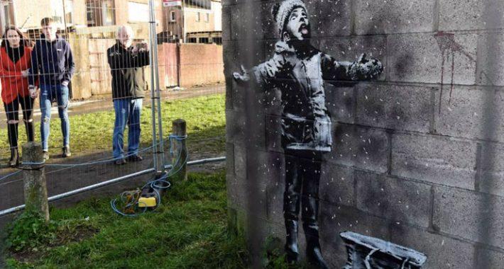 Banksy garaj duvarına 100 bin Sterlin çizdi