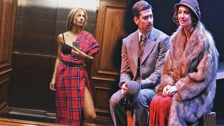 Kürk Mantolu Madonna asansörde sütyenle
