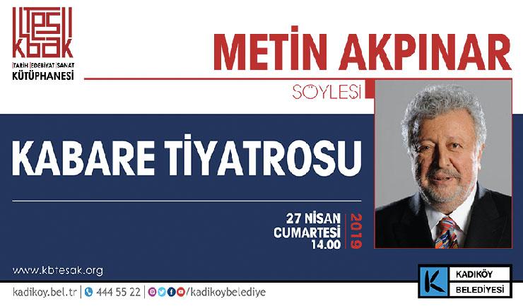 Metin Akpınar söyleşisi Kadıköy TESAK'ta