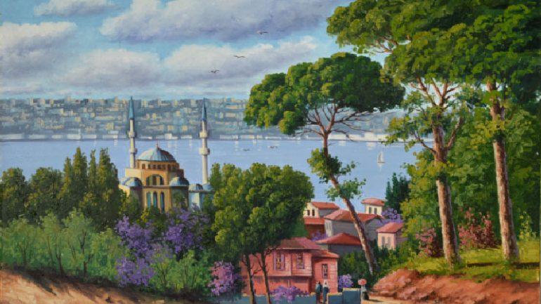 Nur Ulubil resimleriİstanbul Benim Rüyam sergisinde