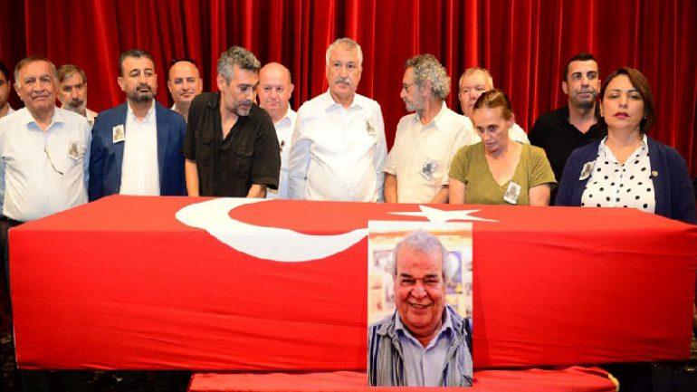Cengiz Sezici son yolculuğunda Türk bayrağıyla