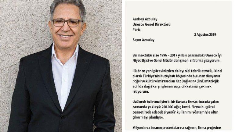 Livaneli Kaz Dağları mektubu ile UNESCO'ya seslendi