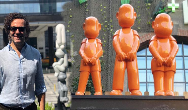 Erdil Yaşaroğlu heykelleri Oyun sergisi ile Bomontiada'da