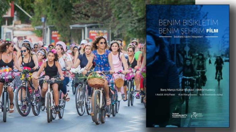 Bisikletli kadınların belgeseli Kadıköy'de