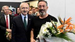 Kılıçdaroğlu Cem Yılmaz'ı kuliste ziyaret etti