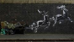 Banksy'nin evsizler için çizdiği eser tahrif edildi