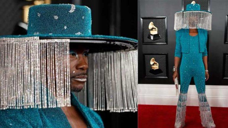 Billy Porter şapkası ile 62. Grammy Ödülleri'nde