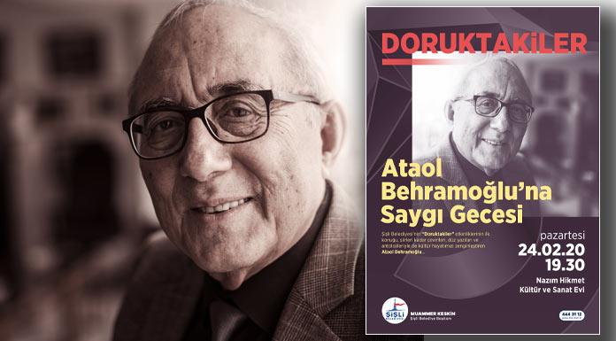 Şişli'de Ataol Behramoğlu'na Saygı gecesi