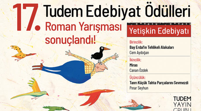 17. Tudem Edebiyat Ödülleri Roman Yarışması sonuçlandı